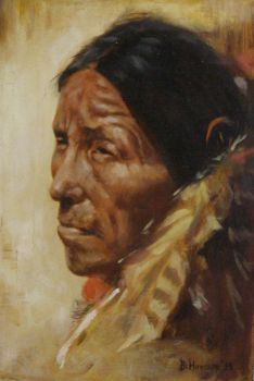 Howard Terpning study in oils by vnnikolov