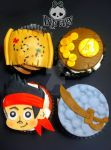 Jake and the Neverland Pirates Cupcakes by Corpse-Queen