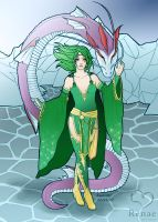 Rydia of the Mist by ColourmeRen