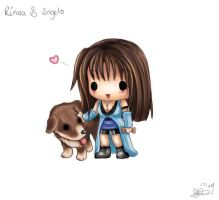 Chibi Rinoa and Angelo by capsicum