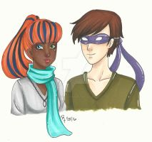 AT: Mira and Donatello by chelleface90