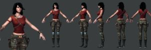 Rubi Malone Low Poly Set 2 by HazardousArts