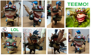 LoL - Teemo PaperCraft by lilchibichan