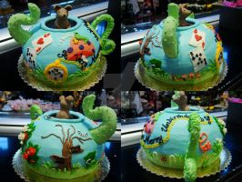 Wonderland Teapot Cake Views by Erisana
