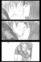 Naruto x Hinata First Kiss sketch by shamylicious