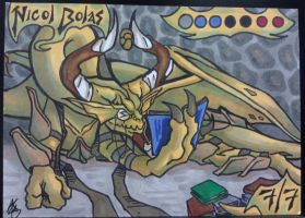 Nicol Bolas Sketch Card Colors by Grymjack