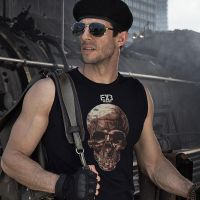 The Expendables 3 Ak Series Skull Logo T Shirt Tee by cosplaysky123
