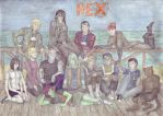 Characters from Generator Rex on the beach by Sternritter-Rex