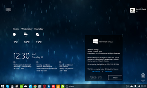 Windows 9 Single Mark 4 (build 1830) by RMNSkin