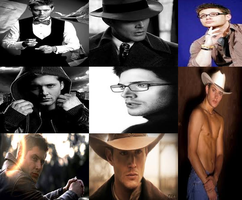 Jensen Ackles Collage (fixed) by PsychPsych-o