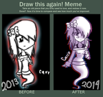 Meme Before and After - 2013 Vs 2014 by FerzyPPGD