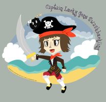 Art Trade: Captain Lucky by Poila-Invictiwerks