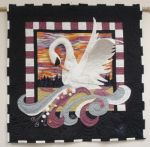 White Swan Quilt by blackswanfeather