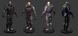 Sci-fi marine textured by ivilai