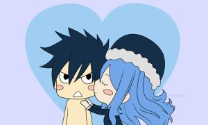 Chibi Gruvia - Fairy Tail [Photoshop] by Serenarla