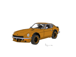 Rootbeer Brown Datsun 280z by CrimsonJersey