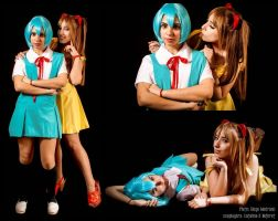 Evangelion: Rei and Asuka by Neferet-Cosplay