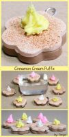 Cinnamon Cream Puff Cookies by Tonya-TJPhotography