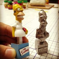 Mini Bust Homer Simpson by IgorGosling