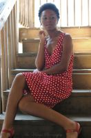 Girl in the polka dot dress by tarnishedhalo