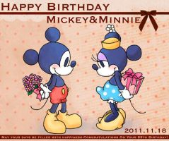 Happy Birthday Mickey and Minnie 2011 by hat-M84