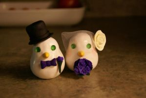 Love Bird Cake Toppers 2 by Ari-Sera