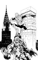 Spider-Man and Venom - Inks by ejimenez