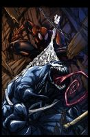 Venom vs Spiderman by torner
