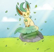 Stand alone Leafeon by elenawing