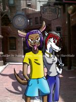 Eli and Nessa in Universal by Agent-Eli