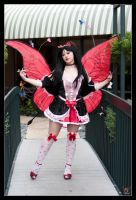 Red Hearts Fairy Wingspan by HollyGloha