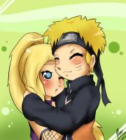 RQ:Ino and Naruto Hug by xXUnicornXx