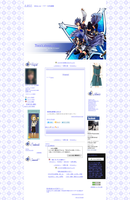 Aqua and her Wayfinder Layout for Ameblog by Pixelowska