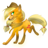 Applejack wolf by Affanita