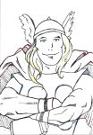 Thor Smiles by SmudgeThistle