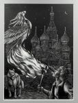 Ivan Tsarevitch, The Fire Bird and The Grey Wolf by Nights-Eyes