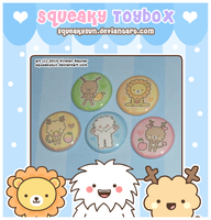 SqueakyToybox Button Set by SqueakyToybox