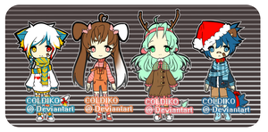 CHRISTMAS SET (SET PRICE/OFFER TO ADOPT) 2 LEFT by Sugoiko