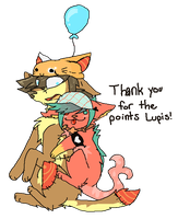 Thank you Lupis! (transparent) by Peculiar-NomNom