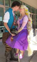 Rapunzel and Flynn - ACE2012 by xsakichanx