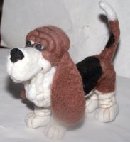 commision basset hound by clay-dreams