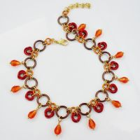 Fiery Autumn Rose Anklet by Gone-Wishing