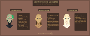 Main Species: (Female) Region Head Concepts by Immonia