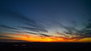 Sunset over Minsk by aryss-skahara