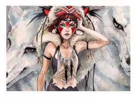 Princess Mononoke by CARLATIONS