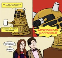 TWO DALEKS WALK INTO A BAR by robynred