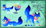 Blue Ocean Cocktail MYO Sushidog refsheet by StanHoneyThief