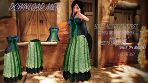 .:MMD:. Herbal Scent Dress/Top/Skirt by Ruko000Yokune