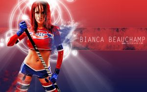 Bianca Beauchamp: Habs Golf by UniqueOneDesigns