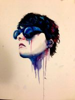 Gerard way in watercolou by WrenArt